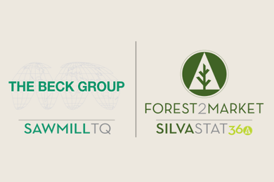 The Beck Group and Forest2Market announce sawmill TQ, a new data and analytics service for Southern Sawmills