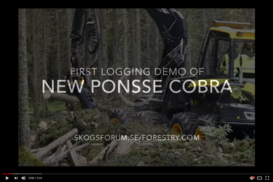 Ponsse Cobra Harvester: First Logging Demo