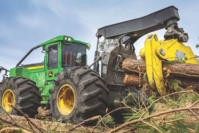 New John Deere L-Series II Skidders and Wheeled Feller Bunchers provide simplified, reliable machines for loggers
