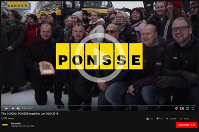 Ponsee 14,000th machine