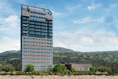 The world's tallest wooden building Mjösa Tower completed in Norway