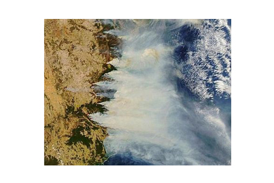 Australian fires from space