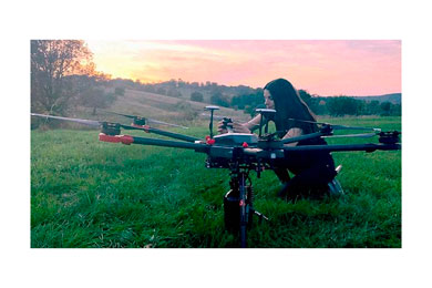 Tree planting drones working on forest restoration