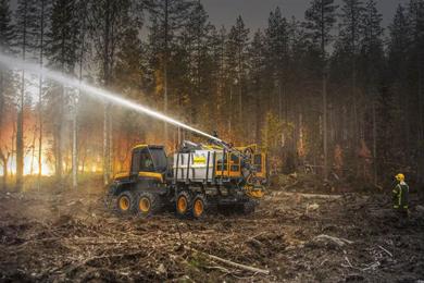 PONSSE Firefighting equipment for forwarders