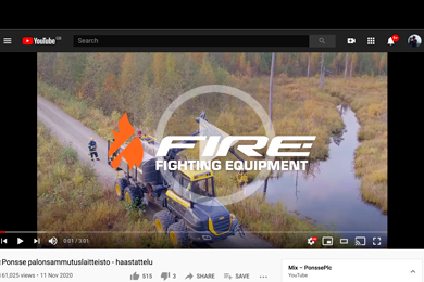 VIDEO: Firefighting Equipment Installed On A Ponsse Forest Machine