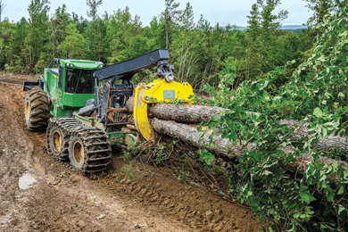 John Deere unveils Its powerful, purpose-built 768L-II Bogie Skidder