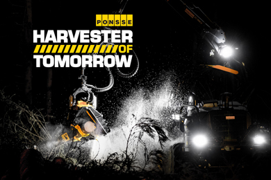 Invitation to a launch event of new PONSSE Scorpion Harvester