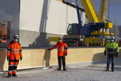Construction of Metsä Spring and Valmet's demo plant for 3D fibre products progressing