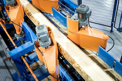 Norra Timber monitors band saws and reducers with online systems from SPM