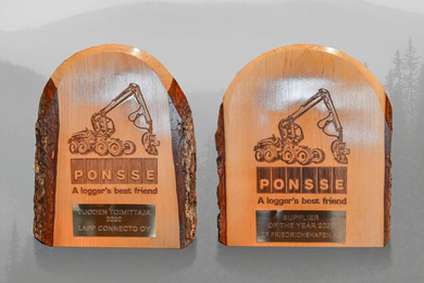 Lapp Connecto Oy&ZF Friedrichshafen AG Ponsse's suppliers of the year