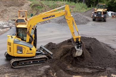 Komatsu's PC78US-11 excavator delivers versatility & efficiency