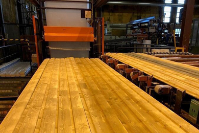 Koskisen fire-protected spruce panels at Keravanjoki community centre