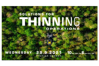 PONSSE SOLUTIONS FOR THINNING OPERATIONS