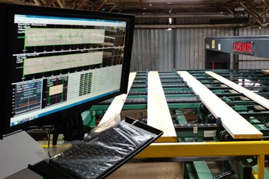 Millar Western invests in vision and Deep Learning AI for its sawmill trimmer