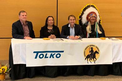 Pelican Lake, Witchekan Lake first nations launch Kitaskinaw Enterprises Ltd. with Tolko